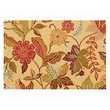 C&F Home Henley Orange and Brown Floral Botanical Spring Easter Summer Wool Handcrafted Premium Hooked Indoor Area Rug 2'x3' Orange