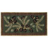 Chandler 4 Corners Artist-Designed Pinecone Hand-Hooked Wool Accent Rug (2' x 4')