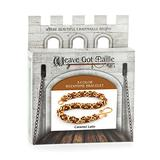Weave Got Maille 3-Color Byzantine Chain Maille Bracelet Kit, Caramel Latte