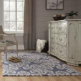 Momeni Rugs Summit Collection, Hand Knotted Transitional Area Rug, 8' x 10', Navy Blue