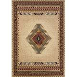 """United Weavers of America Tucson Manhattan Rug Collection, 1' 11"""" by 7' 4"""", Cream"""