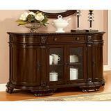 Furniture of America CM3319SV Bellagio Brown Cherry Server Dining Room Buffet