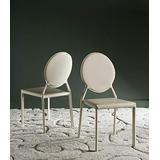 Safavieh Home Collection Warner Mid-Century Round Back Buttercream Side Chair (Set of 2)