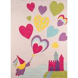 Momeni Lil Mo Whimsy Collection Area Rug, 4' x 6', Pink