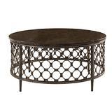 "Hillsdale Furniture Hillsdale Brescello Round Coffee Table, 36"", Charcoal/Blue Stone"