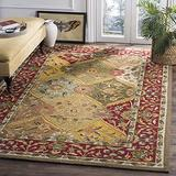 Safavieh Easy Care Collection EZC761A Hand-Hooked Area Rug, 4' x 6', Multi / Red