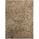 Mohawk Metropolitan Gianni Ginger by Virginia Langley Geometric Woven Area Rug, 8'x11', Tan and Red
