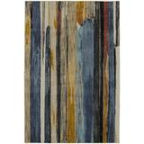 Mohawk Muse Eureka Multicolor Striped Woven Area Rug, 5'3x7'10, Blue