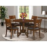 5 Pc Dinette Table with 2drop-leaf and 4 Leather Kitchen Chairs
