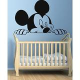 USA Decals4You Funny Mickey Mouse Wall Decal for Nursery Boys Girls Room Decor Vinyl Stickers MK0042