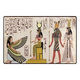 WOZO Egyptian Vintage African Women Area Rug Rugs Non-Slip Floor Mat Doormats Living Dining Room Bedroom Dorm 31 x 20 inches Home Decor
