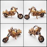 22.5 CM Teak Wooden Carved Motorcycle , Big Bike , Classic Bike , Harley Bike , Chopper Bike , Model & Toy Home Standing Show