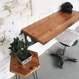 """Industrial Rustic Wall-Mounted Table, Dining Table Desk, Pine Wood Wall-Mounted Bar Tables (31""""X14"""")"""