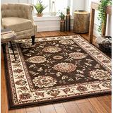 """Sultan Sarouk Brown Oriental 8x10 (7'10'' x 10'6"""") Area Rug Persian Floral Formal Traditional Area Rug Easy Clean Shed Free Modern Classic Contemporary Thick Soft Plush Living Dining Room Rug"""