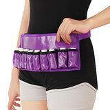 Weljoy Adjustable Massage Oil/Lotion Holster Carrier Oil Essential Oil Bottle Belt Massage Belt(Holds 1pc 8oz,1pc 115ml, 10 vials) … (Purple(Waterproof))