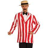 Forum Novelties Men's Roaring 20's Old Time Halloween Jacket, Red/White, Standard