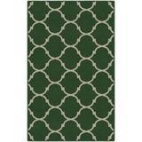 Winston Porter Hedgerley Moroccan Trellis Lattice Area Rug Nylon in Green, Size 96.0 H x 60.0 W x 0.5 D in   Wayfair