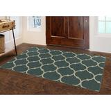 Winston Porter Helmsley Moroccan Trellis Lattice Area Rug Nylon in Gray, Size 96.0 H x 60.0 W x 0.5 D in   Wayfair CD1ADE7775674289902B24E35D99995E
