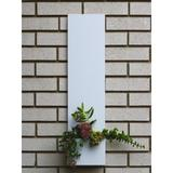 Modern Aspect Standing Tall 1-Line Wall Address Plaque Metal in White, Size 28.0 H x 7.0 W x 3.0 D in | Wayfair 602