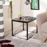 Wrought Studio™ Baize Frame End Table Marble Look/Metal in Black, Size 17.7 H x 19.0 W x 19.0 D in | Wayfair VRKG4057 47431235