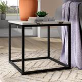 Wrought Studio™ Baize Frame End Table Marble Look/Metal in Gray, Size 17.7 H x 19.0 W x 19.0 D in | Wayfair VRKG4057 39988116