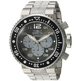 Invicta Men's Pro Diver Stainless Steel Quartz Diving Watch with Stainless-Steel Strap, Silver, 14 (Model: 25073)