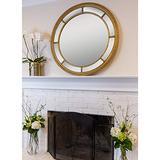 SBC Decor Augusta Circular, Gold Wall Mirror, Large
