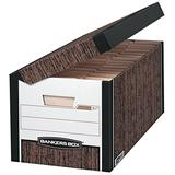 Bankers Box SYSTEMATIC Medium-Duty Storage Boxes, FastFold, Lift-Off Lid, Letter, Case of 12 (00051)