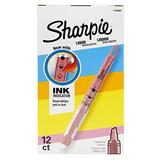 Sharpie Liquid Highlighters, Chisel Tip, Fluorescent Pink, Box of 12