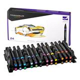 Prismacolor 3721 Premier Double-Ended Art Markers, Fine and Chisel Tip, 24-Count,Assorted Colors