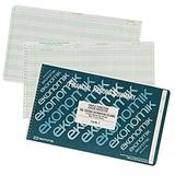Ekonomik F Wirebound Form F Check Register with 5 Credit/15 Expense Columns, 8-3/4X14-3/4, Green;white