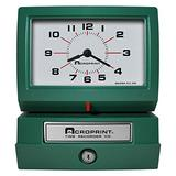 Acroprint 150QR4 Heavy Duty Automatic Time Recorder, Prints Month, Date, Hour (0-23) and Minutes Time Clock