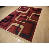 New Modern Rugs for Bedroom 5x8 Red Area Rugs Rugs for Living Room 5x7 Navy Red Beige Contemporary Rugs 5 by 7 Rugs for Kitchen Dining Room Rug