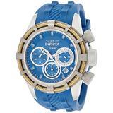 Invicta Men's 22153 Bolt Quartz Chronograph Blue Polyurethane Dial Watch