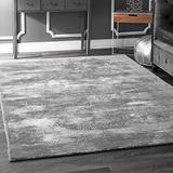 nuLOOM Mist Solid Faded Area Rug, 5' x 8', Grey