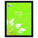 DAX 2863W2X Black Solid Wood Poster Frames w/Plastic Window, Wide Profile, 18 x 24