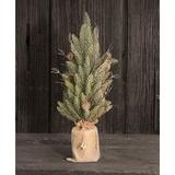 The Holiday Aisle® Snowy Glitter 18' Pine Artificial Christmas Tree in Green, Size 17.5 H x 5.75 W x 5.75 D in   Wayfair