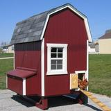 Tucker Murphy Pet™ Daria Gambrel Barn Chicken House w/ Nesting Box & Ramp Wood in Brown, Size 94.0 H x 48.0 W x 72.0 D in | Wayfair