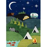 Momeni Lil Mo Whimsy Collection Area Rug, 4' x 6', Blue