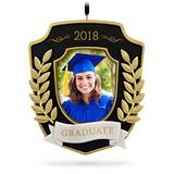Hallmark Keepsake Christmas Ornament 2018 Year Dated Graduation Gift Congratulations Porcelain and Metal Picture Frame, Photo Frame