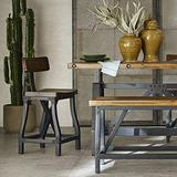Ink+Ivy Lancaster Counter Stools, Contour Seat, Removable Backrest Modern Industrial Counter-Height Kitchen Chair, Solid Wood, Metal Kickplate Footrest, Dining Room Accent Furniture, Amber