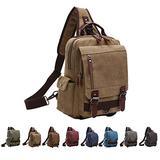 Queenie - Unisex Canvas Cross Body Messenger Bag Sling Bag Backpack Shoulder Bag Travel Rucksack For Men and Women (8596 Sling Bag Khaki)