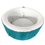 ALEKO 4-Person 130-Jet Inflatable Hot Tub, Vinyl, Size Small | Wayfair HTIR4BLL