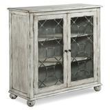 Fairfield Chair Harborside 2 Door Accent Cabinet Wood in Brown/Gray, Size 40.0 H x 40.0 W x 17.0 D in | Wayfair 8123-17