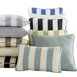"""Outdoor Throw Pillow Canvas Rust 12"""" x 20"""" - Ballard Designs"""