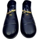 Morris Costumes - Black Clown Plastic Shoes - One Size