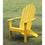 Relaxing Wood Adirondack Chair Made of Solid Wood, Wide Angled Back, Deep Seat and Wide Arm Rests, Great for Any Outdoor or Indoor Setting, Yellow + Expert Guide by Love US