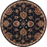 Surya Caesar CAE-1102 Classic Hand Tufted 100% Wool Ink 4' Round Traditional Area Rug
