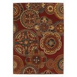 Karastan Karastan English Manor Chesterfield Rug, Red, Wool, 5.5 x 8 ft.
