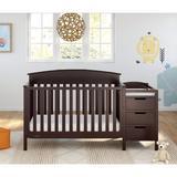 Graco Benton 4-in-1 Convertible Crib & Changer Wood in Brown, Size 41.87 H x 29.8 W x 73.2 D in | Wayfair 04586-649